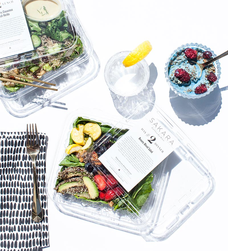 sakara meals plated for delivery