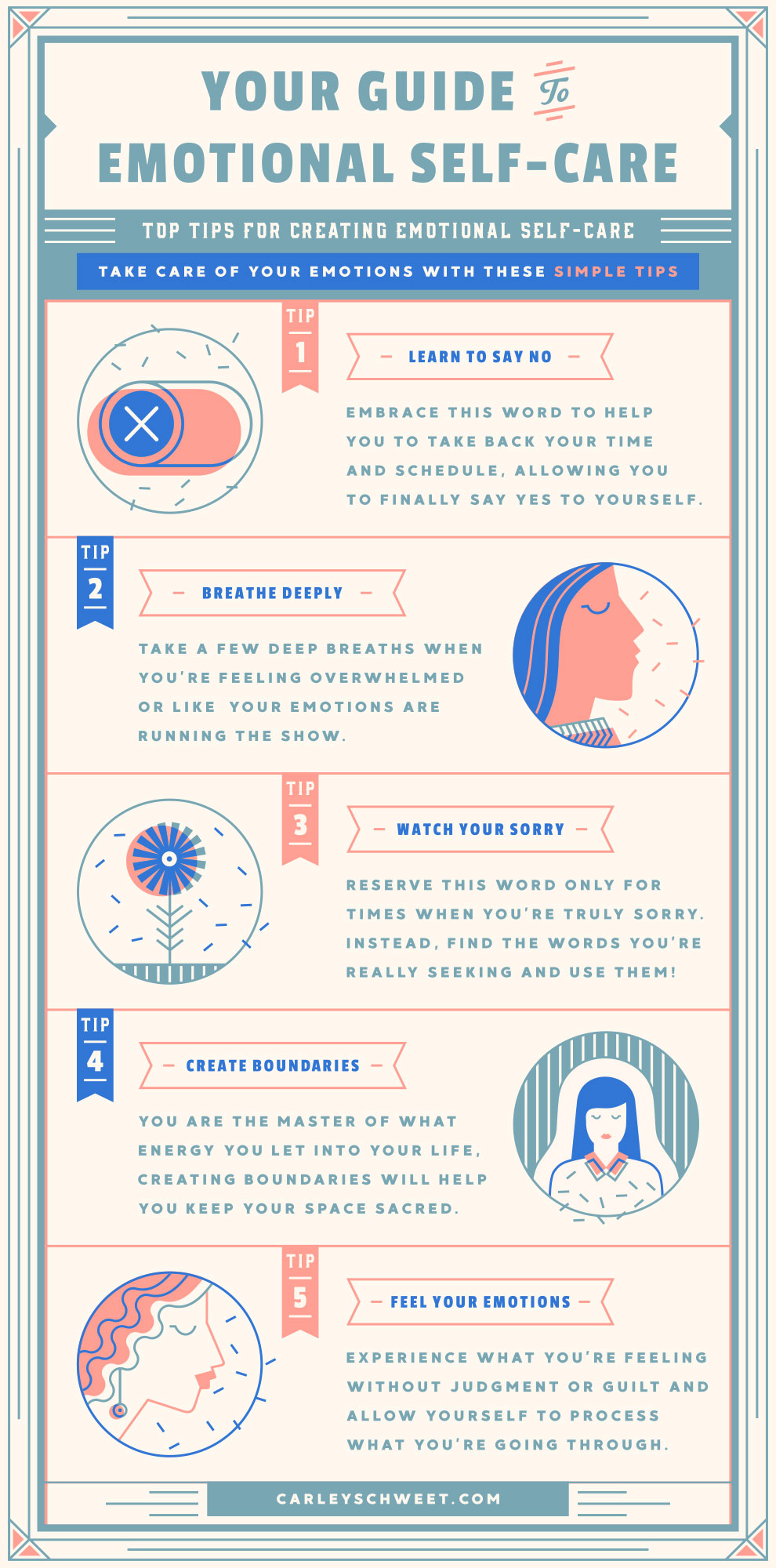 emotional self care infographic