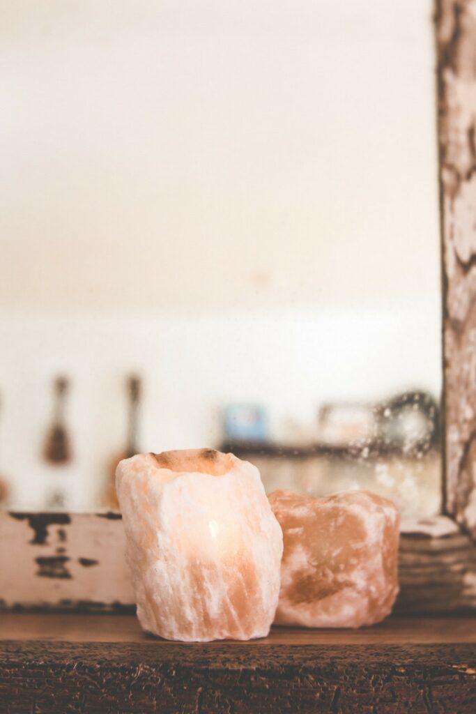 himalayan salt candles for a peaceful home