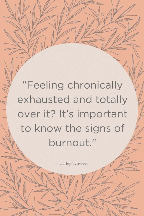 Know the signs of burnout