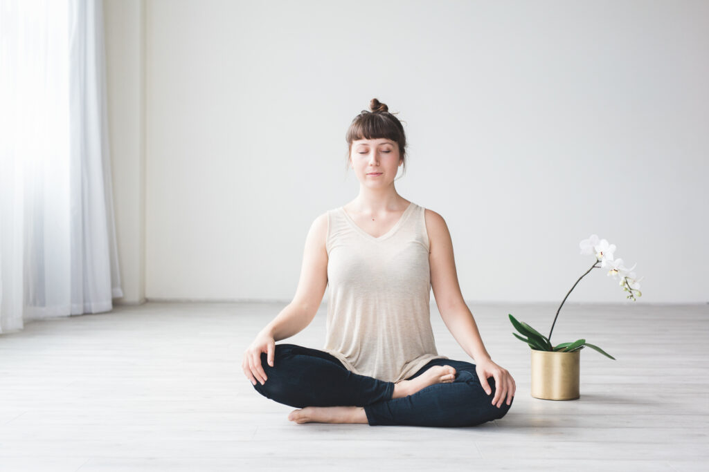 Meditation healthy mindset