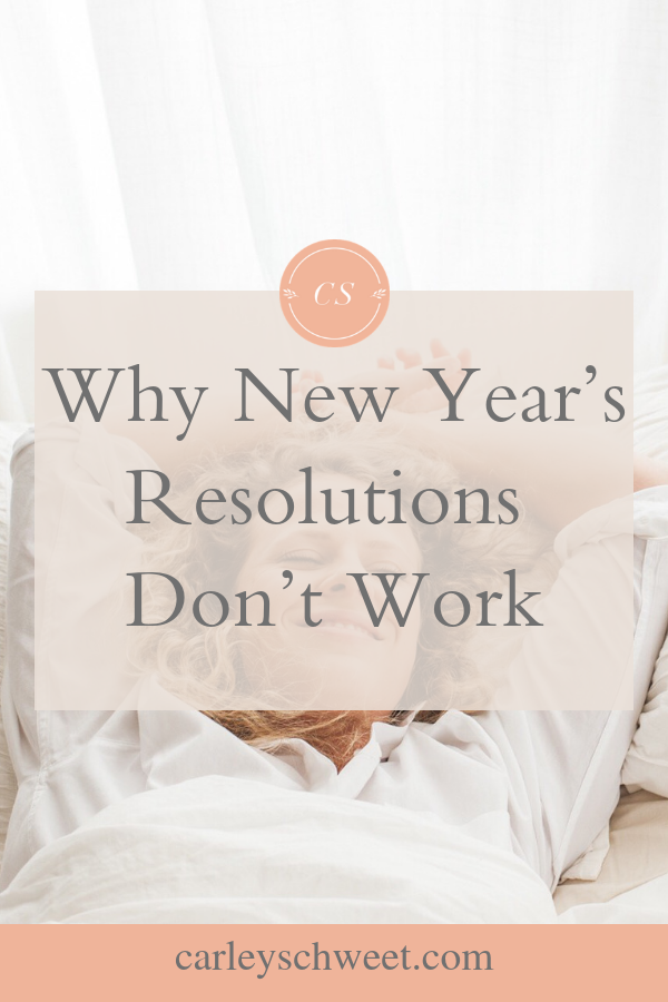 Why New years resolution dont work