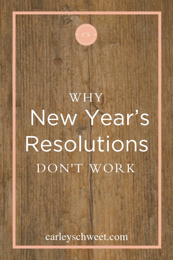 Why resolutions don't work
