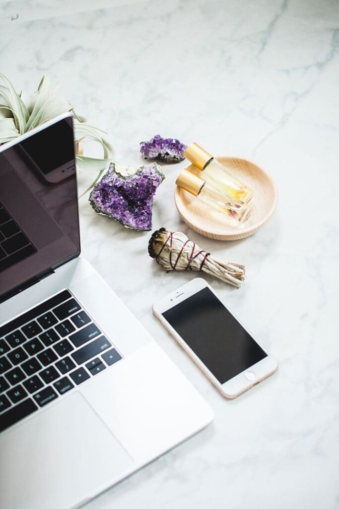 blogging desk