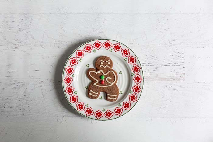 gingerbread cookie on a plate