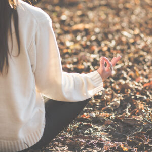 woman meditating in nature free self-care