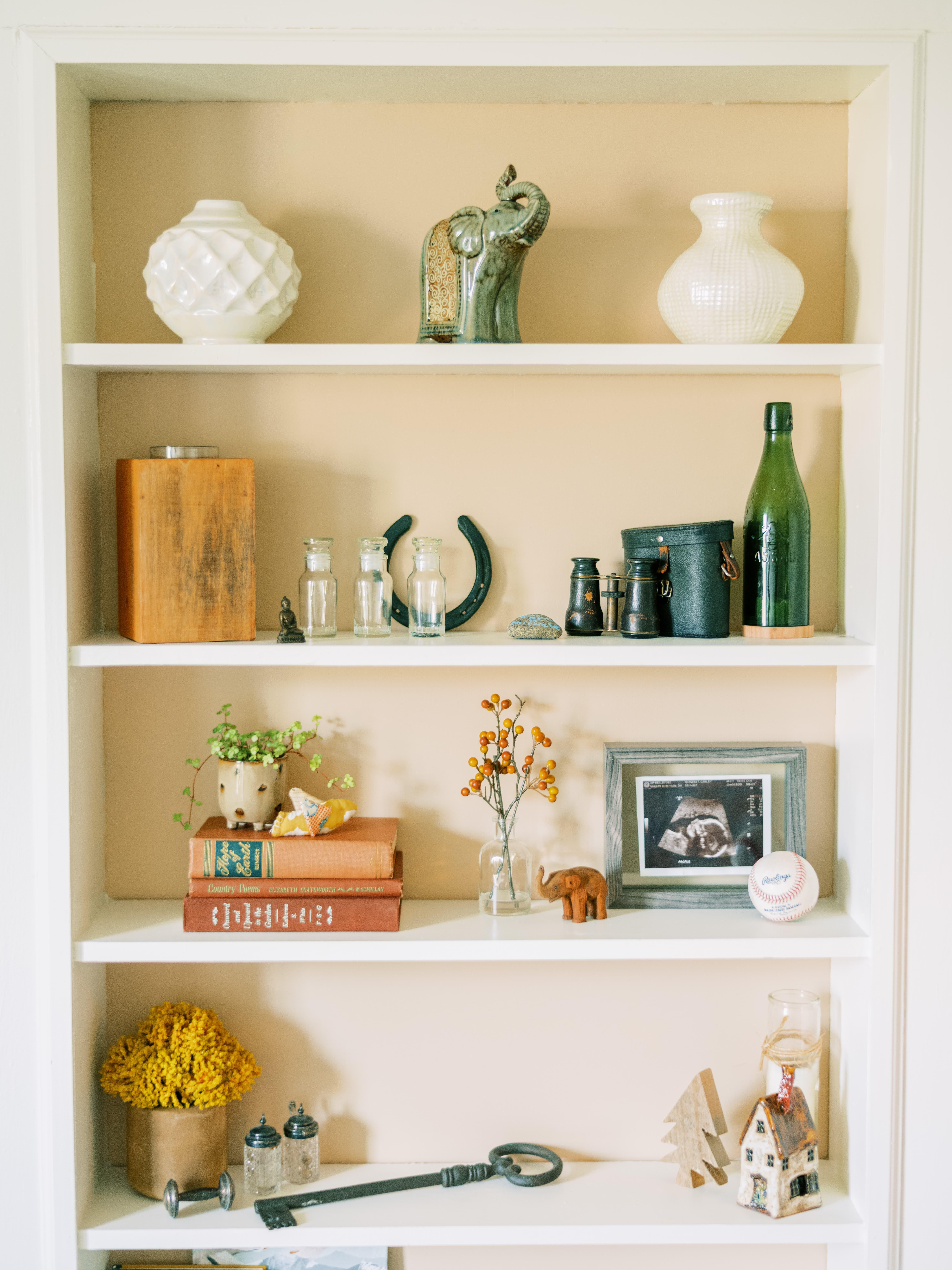modern farmhouse nursery shelves