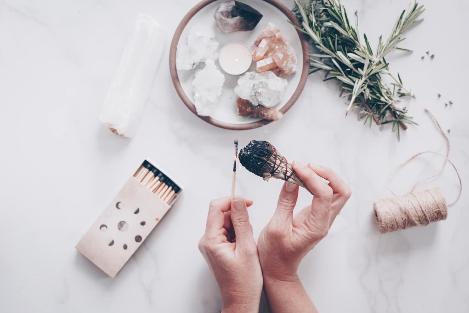 self-care ritual items