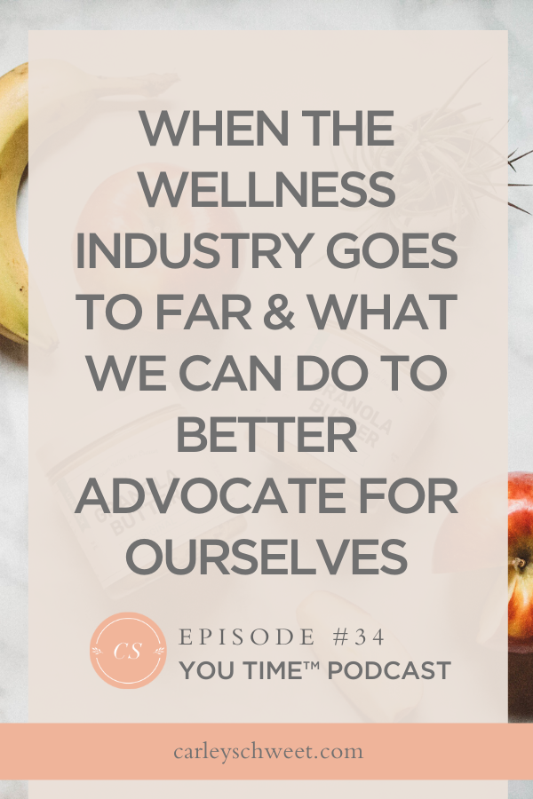 Wellness industry advocate for ourselves