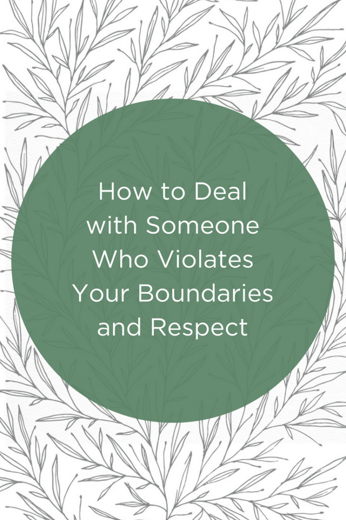 Boundaries and respect