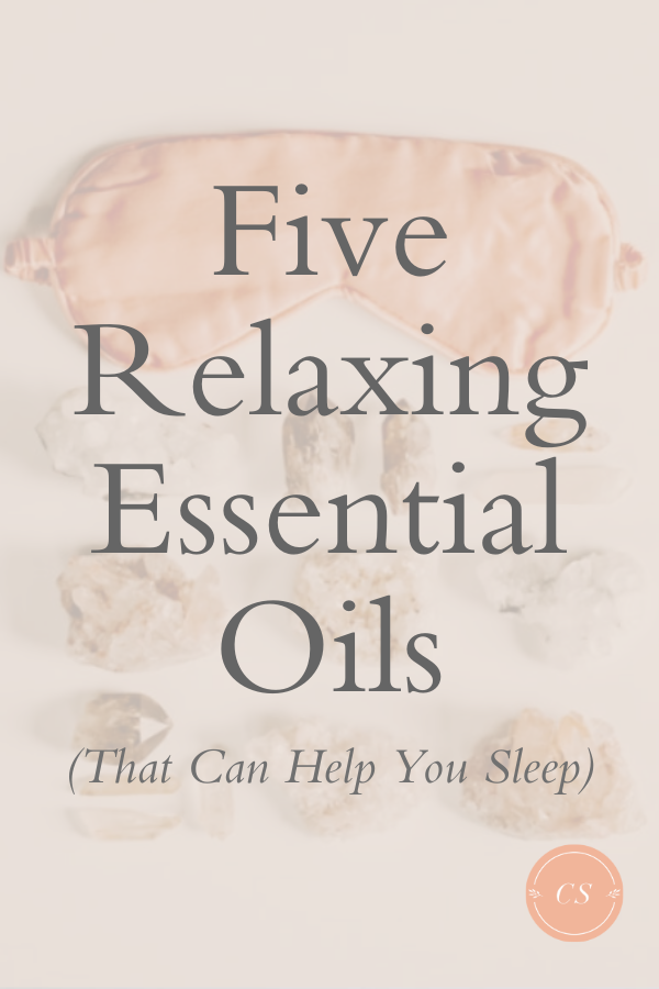 Oils that can help you sleep