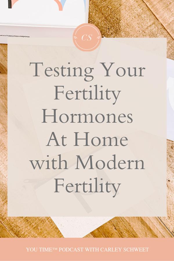 Testing your fertility hormones