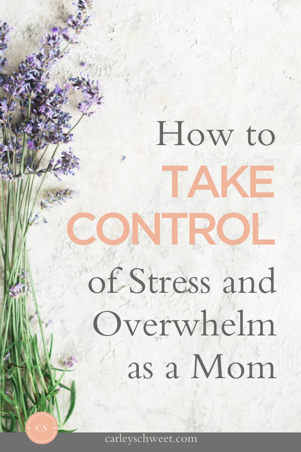 Controlling stress and overwhelm