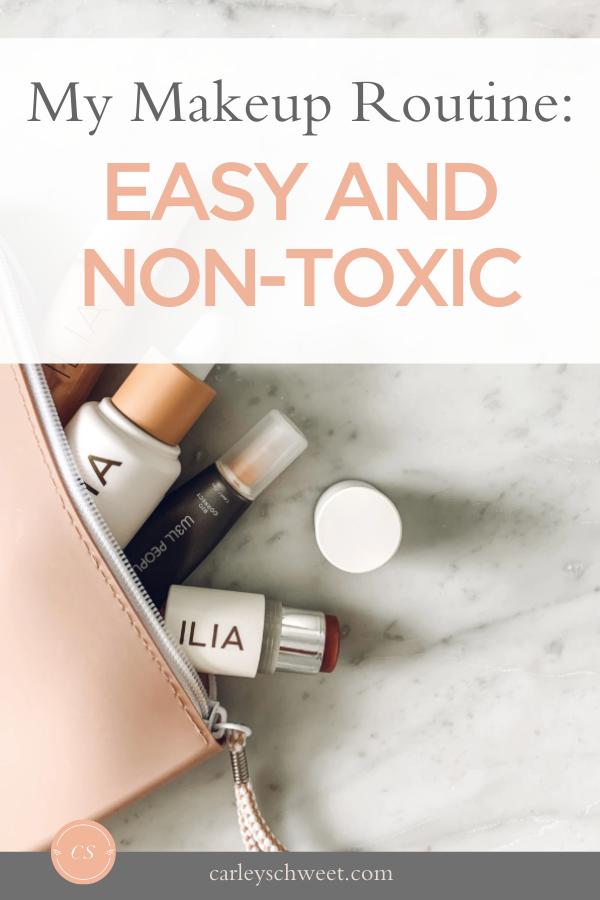 Non-toxic makeup picks and routine