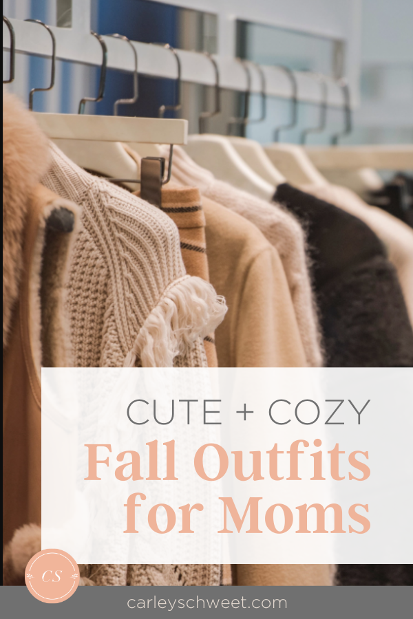 My cute and cozy fall outfits for mom