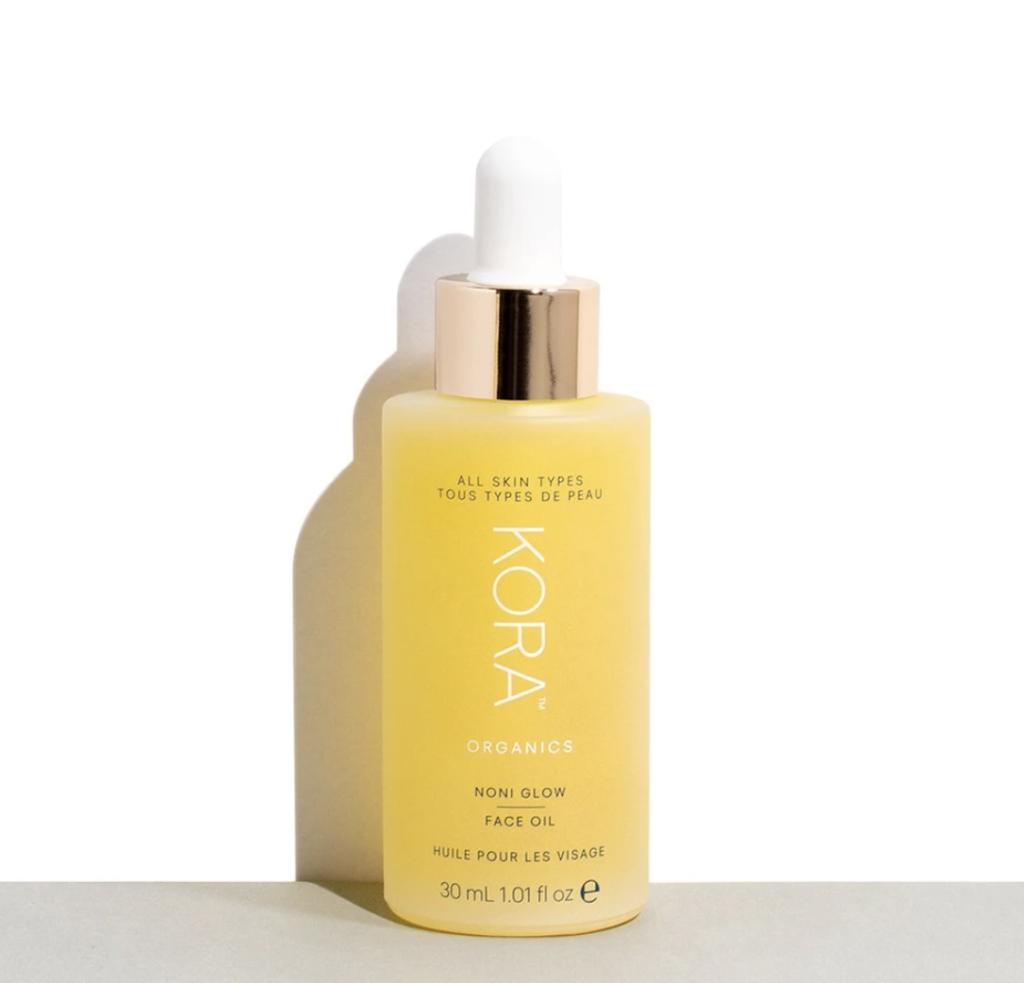 bottle of kora organics face oil
