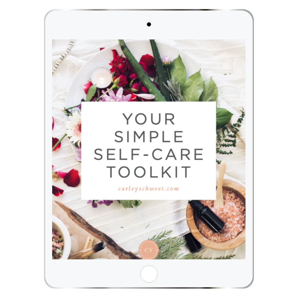 self-care toolkit cover page mockup on an iPad