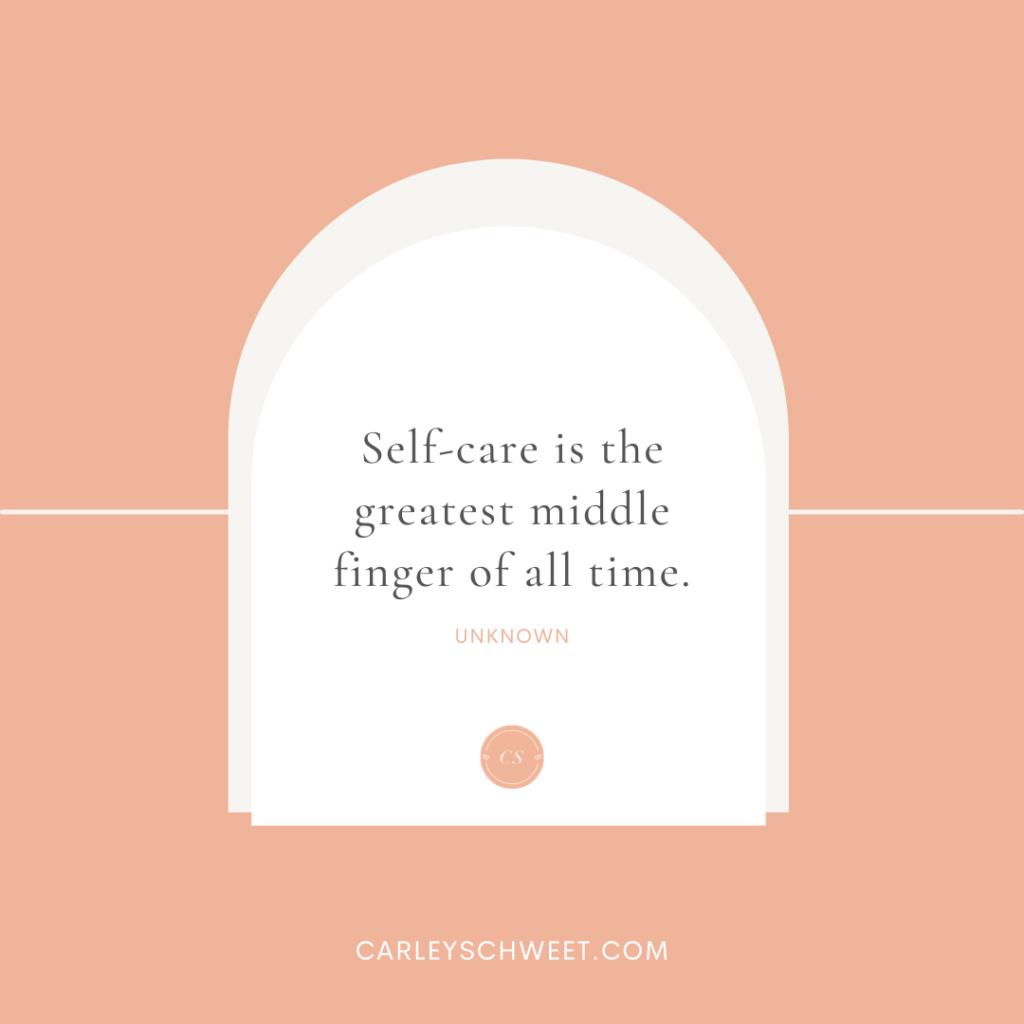 funny self-care quote