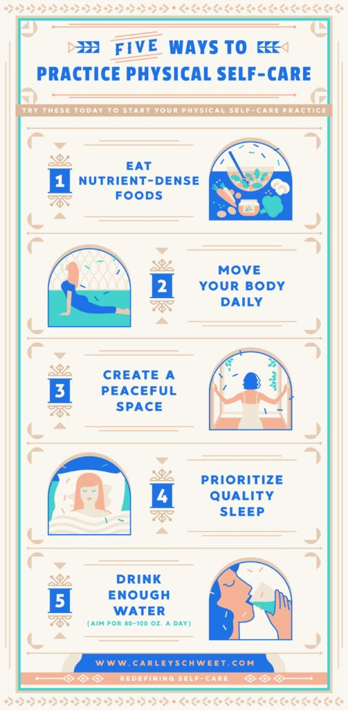 physical self care infographic