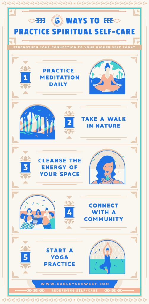 spiritual self care infographic