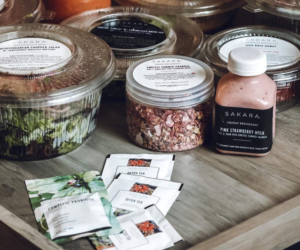 sakara detox tea and probiotic samples
